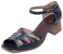 9d5f027ec4 Sandália Retrô de Salto Neway Miuzzi Feminina Marinho - Dhl calçados