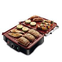 Sanduicheira Grill antiaderente 1.800 watts Press Grill Red Ceramic - PG-02 - Mondial -
