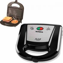 Sanduicheira Grill antiaderente 750 watts Mac Grill - S-11 - Mondial -