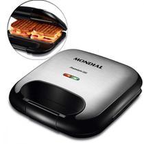 Sanduicheira Grill antiaderente 750 watts Premium Inox - S-25 - Mondial -
