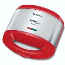 Sanduicheira Grill antiaderente 800 watts inox - S-19 - Mondial -