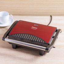 Sanduicheira Grill Inox Press Vermelho Philco - 110V -