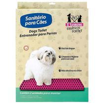 Sanitário higiênico cão plástico rosa Cód. 5665 - Sanremo