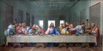 Santa Ceia (1818) - Giacomo Raffaelli - 75x150 - Tela Canvas Para Quadro - Santhatela