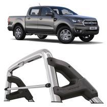 Santo Antonio Ford Ranger 2013 a 2020 Cabine Dupla Keko com Grade Vidro Cromado -