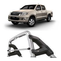 Santo Antonio Toyota Hilux 2005 a 2015 Cabine Dupla Keko com Grade Vidro Cromado -