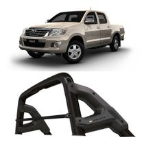 Santo Antonio Toyota Hilux 2005 a 2015 Cabine Dupla Keko com Grade Vidro Preto -