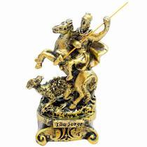 São Jorge Dourado 8cm - Enfeite Resina - Tascoinport
