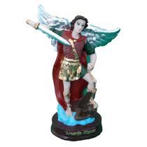 São Miguel Arcanjo Imagem em Resina com 14 cm - Santo Santa