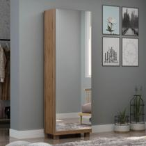 Sapateira 1 Porta com Espelho e Pés 6 Prateleiras Ágata Gelius -