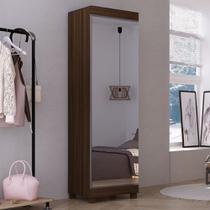 Sapateira 1 Porta com Espelho e Pés 7 Prateleiras Esmeralda Gelius -
