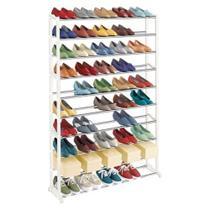 Sapateira 100 calcados estante gigante 50 pares de sapatos e tenis 10 prateleiras organizador andares em metal - MAKEDA