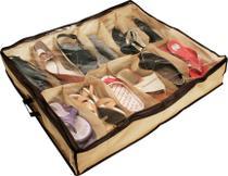 Sapateira 12 Pares - Organize Sapatos No Chão Debaixo Cama - Etilux