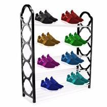 Sapateira 20 sapatos desmontavel com 5 prateleiras estante vertical 10 pares organizador de tenis e sapatos grande - MAKEDA
