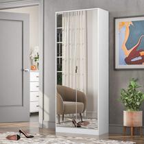Sapateira com Espelho 2 Portas 01 Gaveta Grife Demóbile Branca -