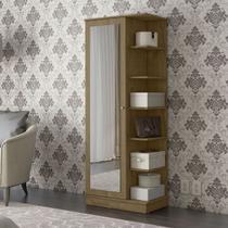Sapateira Com Espelho Patrimar Lisboa 1 Porta 10 Prateleiras - Patrimar móveis