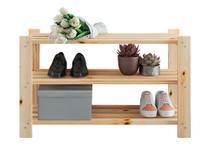 Sapateira de madeira com 3 prateleiras para até 12 pares de calçado - Noddo