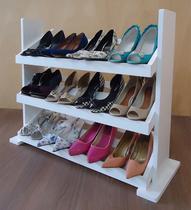 Sapateira de Piso para Closets e Quartos 12 Pares Sapatos - Branco - Formalivre