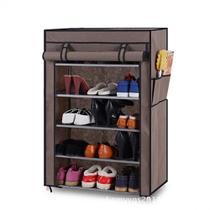 Sapateira grande 5 prateleiras estante organizador armario portatil desmontavel para tenis calçados com ziper - MAKEDA