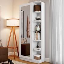 Sapateira Jhully 1 Porta Com Espelho Branco Hp - Bci Móveis -