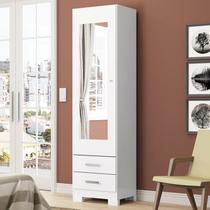 Sapateira Leon 01 Porta com Espelho Branco - Móveis Henn -