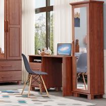 Sapateira Linha Ouro Imbuia 1 Porta com Espelho e 4 Pés Madeira Maciça Pinus - Finestra -