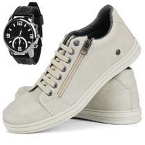 Sapatênis Casual Masculino Máximo Conforto + Relógio Sapatofran - Cr Shoes