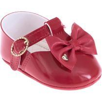 Sapatilha Infantil - Baby Meninas - Vermelha com Laço - Pimpolho -