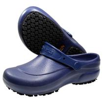 Sapato Enfermagem Hospital Antiderrapante Babuch Softworks BB60 Azul Marinho -