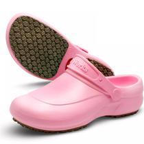 Sapato Enfermagem Hospital Antiderrapante Babuch Softworks BB60 Rosa -