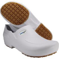 Sapato Enfermagem Hospital Limpeza Radiologia Antiderrapante Workflex Worklight Branco -