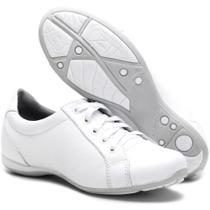 Sapato Feminino Com Cadarço Para Emfermagem 227/01 Branco - Bmbrasil