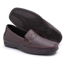 Sapato Feminino Pizaflex  Confortável Marrom -