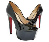 Sapato Feminino Salto Alto Dom Amazona Verniz Preto CD 38 - Dom & Amazona