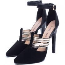 Sapato Feminino Scarpin Preto Salto Alto - Torricella