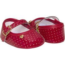 Sapato infantil vermelho Pimpolho meninas 0 a 7 meses -