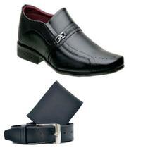 Sapato Masculino Social  + Carteira e Cinto - Tr