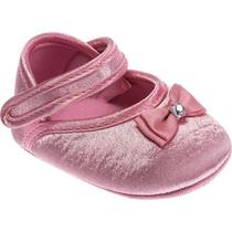 Sapato menina com laço pink pimpolho -