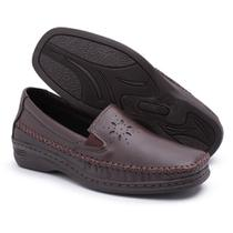Sapato Pizaflex Confortável Feminino Salto Baixo Idosos -