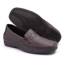 Sapato Pizaflex Feminino Confortável Marrom -
