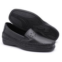 Sapato Pizaflex Feminino Confortável Preto -