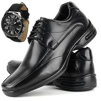 Sapato Social Masculino Anatômico + Relógio - Ferraretto
