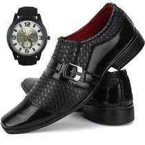 080fb41125 Sapato Social Masculino Linha Exclusiva Sapatofran 2019 + Relógio - Ws shoes