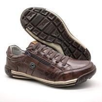Sapatos Casual Zíper e Elástico Palmilha Ortopédica 148/03 Brown - Bmbrasil