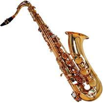 Saxofone Tenor Shelter Laqueado Dourado Sgft6435l C/ Case -
