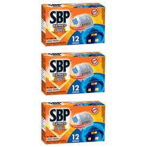 SBP Inseticida Elétrico SBP 12H Aparelho + 4 pastilhas (Kit C/03) -