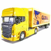 Scania R730 Container 1:64 Welly Amarela
