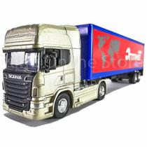 Scania R730 Container 1:64 Welly Azul