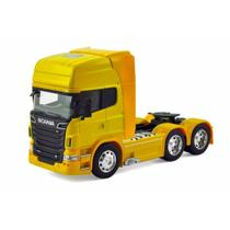 Scania R730 V8 Trucado Welly 1:64 Amarelo