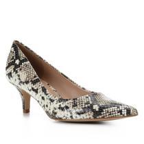 Scarpin Couro Shoestock Cobra Salto Médio -